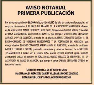 publicar aviso notarial el economista